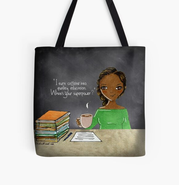 Teacher  Coffee 7 All Over Print Tote Bag