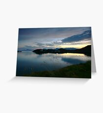 scenic landscape by night Greeting Card