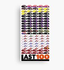 #LAST100 Paint Schemes 1991-2017 Canvas Print