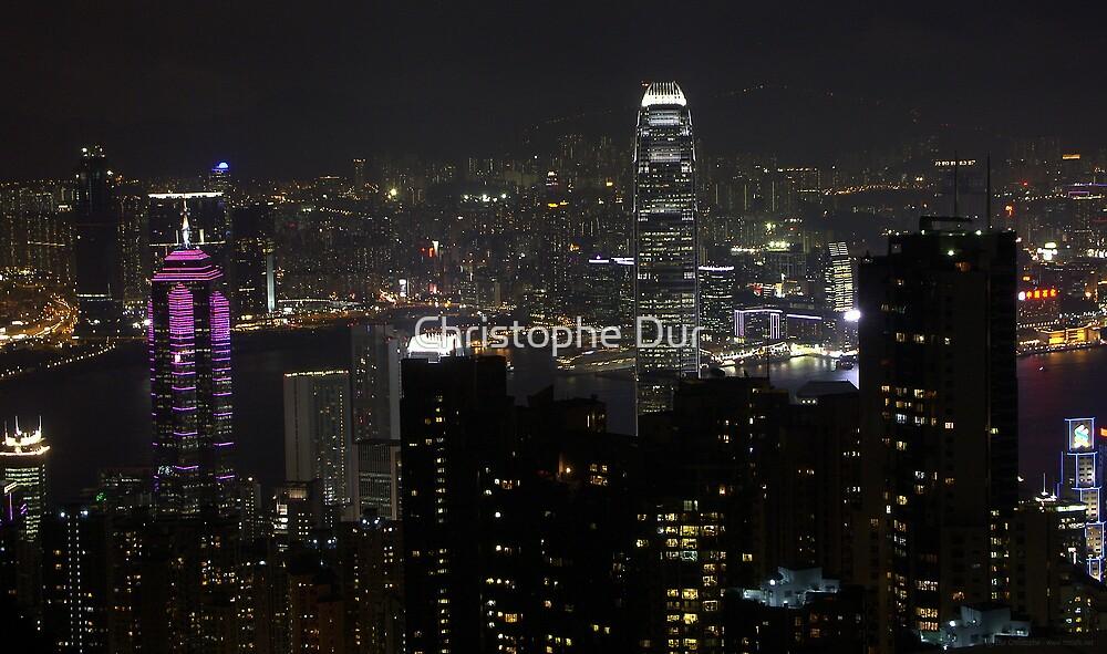 Hong Kong by night - China by Christophe Dur