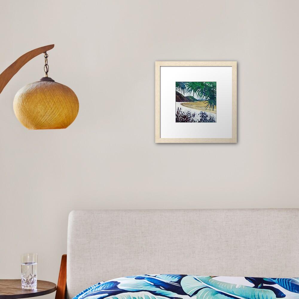 Wategos Beach, Byron Bay Framed Art Print