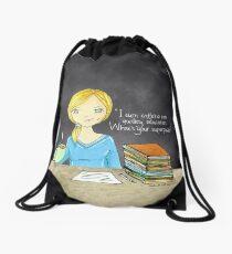Teacher coffee 14 Drawstring Bag