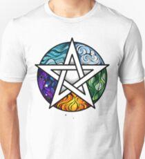 Bright Pentagram ( Wiccan Star ) T-Shirt