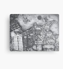 Ketterdam Map Metal Print