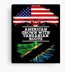 Gift For Tanzanian  American Grown With Tanzanian Roots Tanzania T-Shirt Sweater Hoodie Iphone Samsung Phone Case Coffee Mug Tablet Case Gift Canvas Print