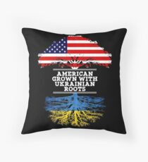 Gift For Ukrainian  American Grown With Ukrainian Roots Ukraine T-Shirt Sweater Hoodie Iphone Samsung Phone Case Coffee Mug Tablet Case Gift Throw Pillow