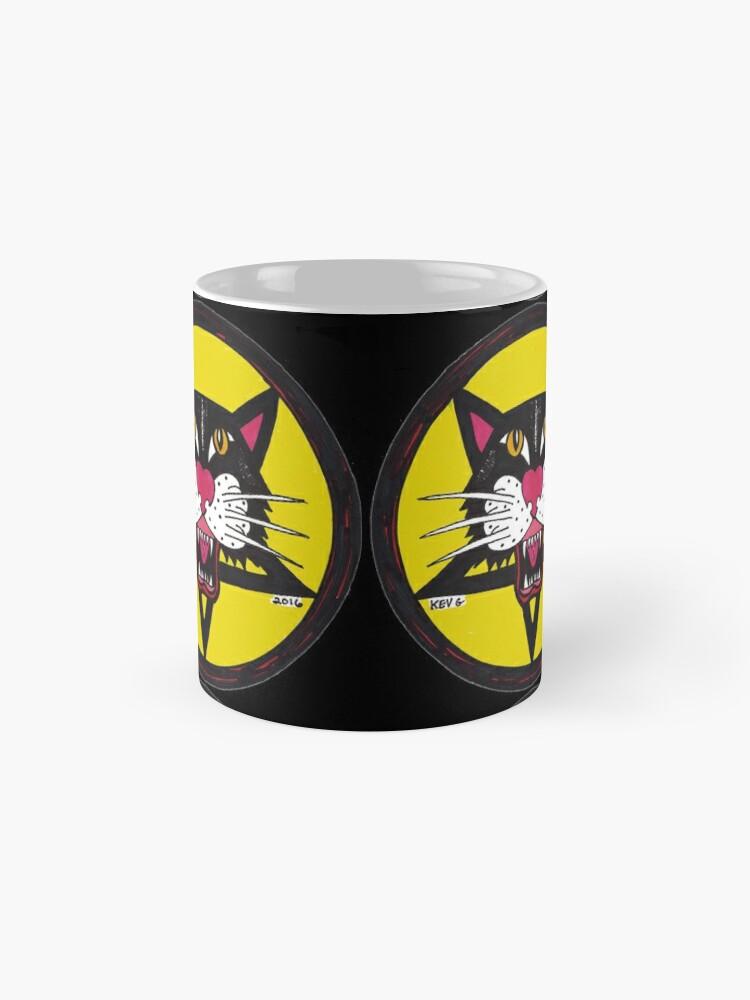 Alternative Ansicht von Big Black Demon Cat  Tasse