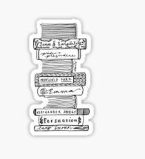 Collected Works of Jane Austen Sticker