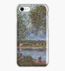 Path of the old ferry boat in By 1880 Alfred Sisley iPhone Case/Skin
