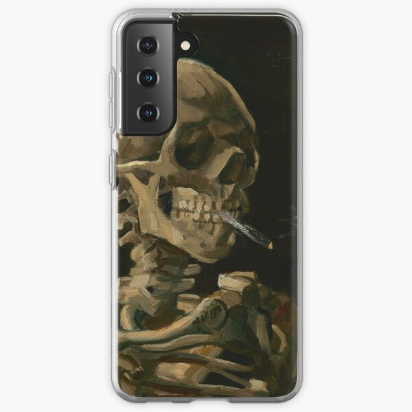 Skull of a Skeleton with Burning Cigarette Samsung Galaxy Soft Case