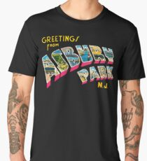 Greetings from Asbury Park, New Jersey 0a Men's Premium T-Shirt