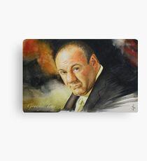 Goodbye Tony (James Gandolfini 1961 - 2013) Canvas Print