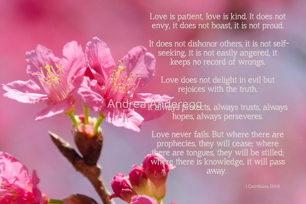 1 Corinthians 13 Love is by andreaanderegg