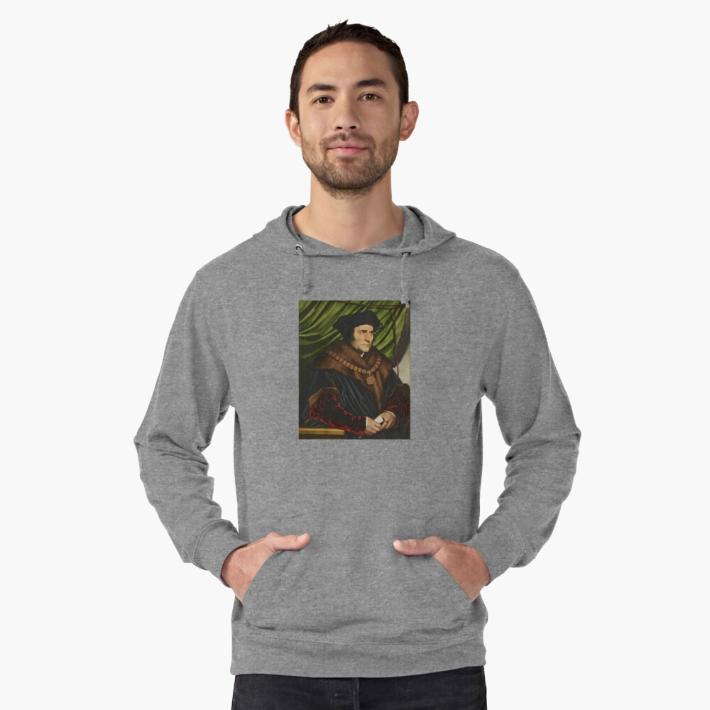 Sir Thomas More Painting Lightweight Hoodie Front