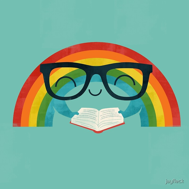 Quot Reading Rainbow Quot By Jayfleck Redbubble