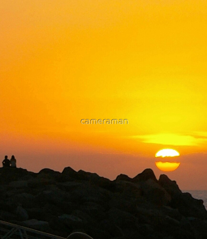 sunset view by cameraman
