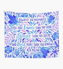 Always Remember – Indigo Palette Wall Tapestry