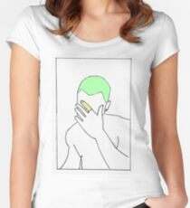 Frank Ocean - Blonde (Minimalist Art) Women's Fitted Scoop T-Shirt