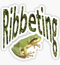 Ribbeting Frog  Sticker