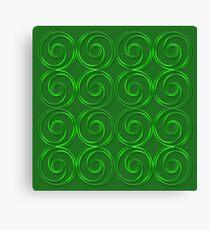 Abstract circles  green 3D texture. Canvas Print