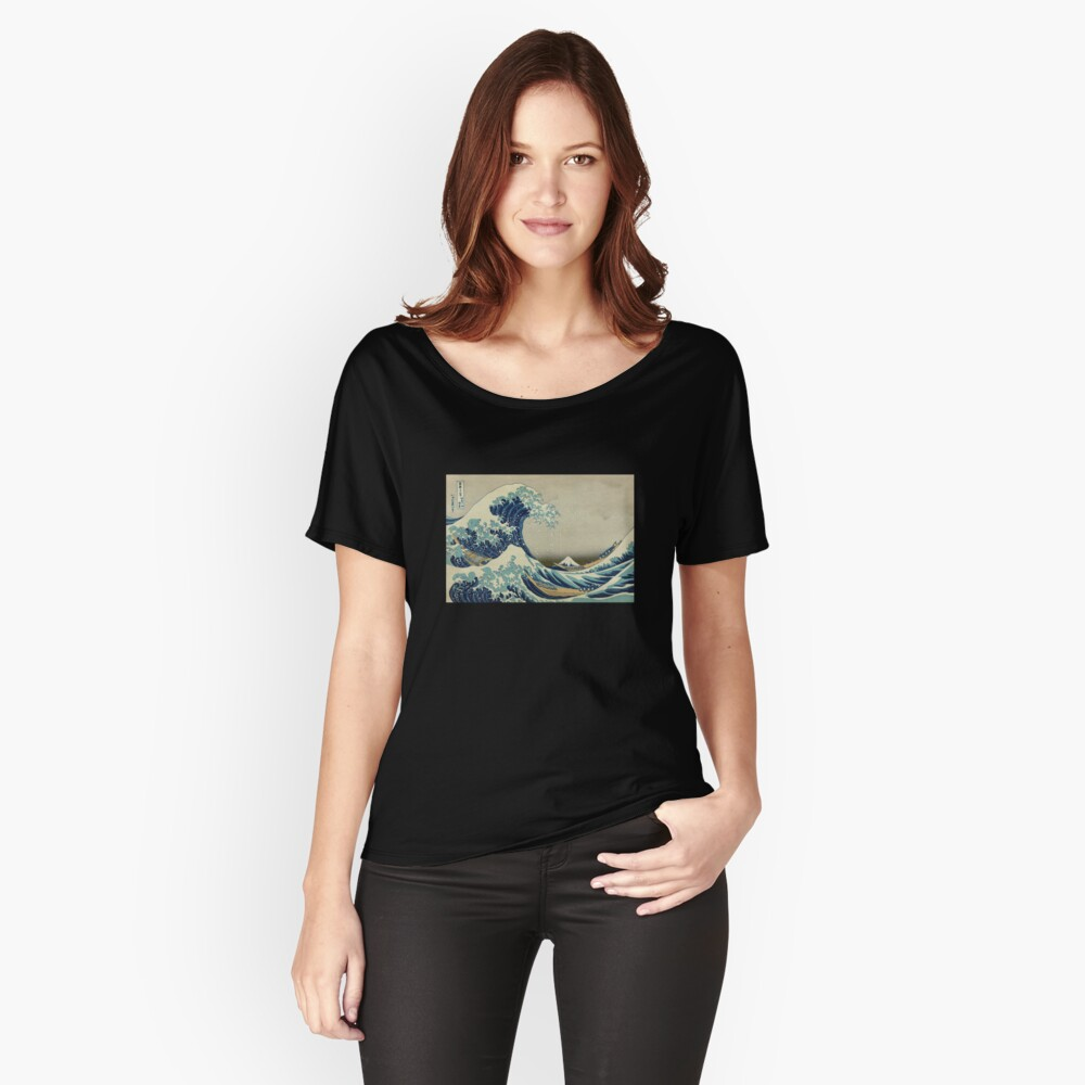 Die große Welle vor Kanagawa Baggyfit T-Shirt