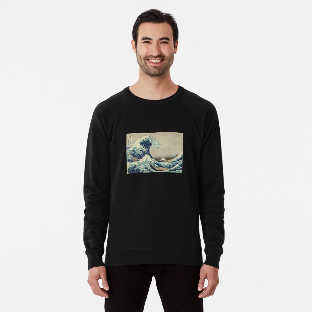 Die große Welle vor Kanagawa Leichtes Sweatshirt