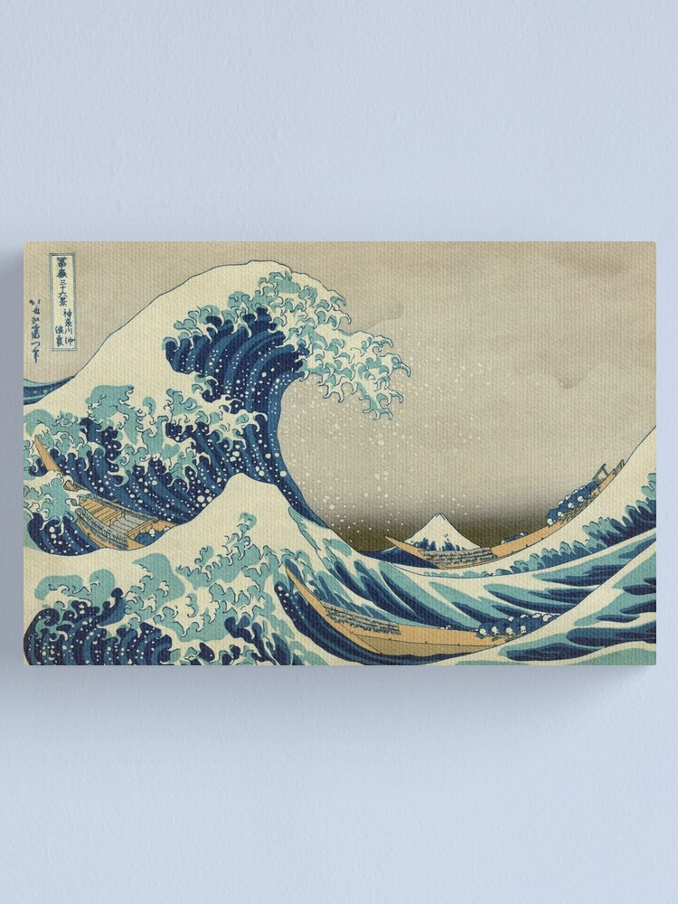 Alternate view of The Great Wave Off Kanagawa Canvas Print