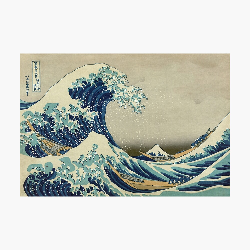 Die große Welle vor Kanagawa Fotodruck