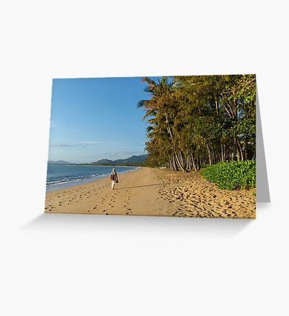 A Walk on the Beach at Palm Cove Greeting Card