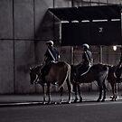 cops on horses by rafaj
