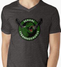 Sexual Tyrannosaurus Mens V-Neck T-Shirt