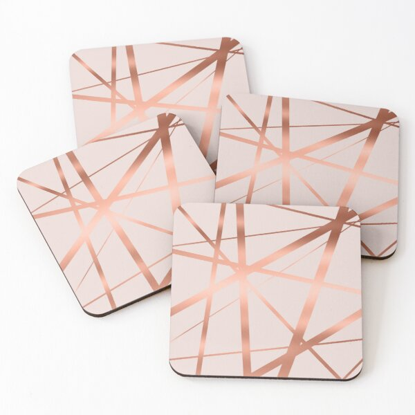 Pink and Copper Luxe Coasters (Set of 4)