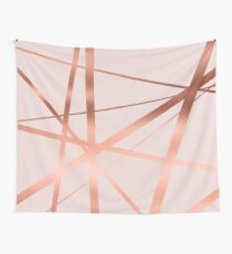 Pink and Copper Luxe Wall Tapestry