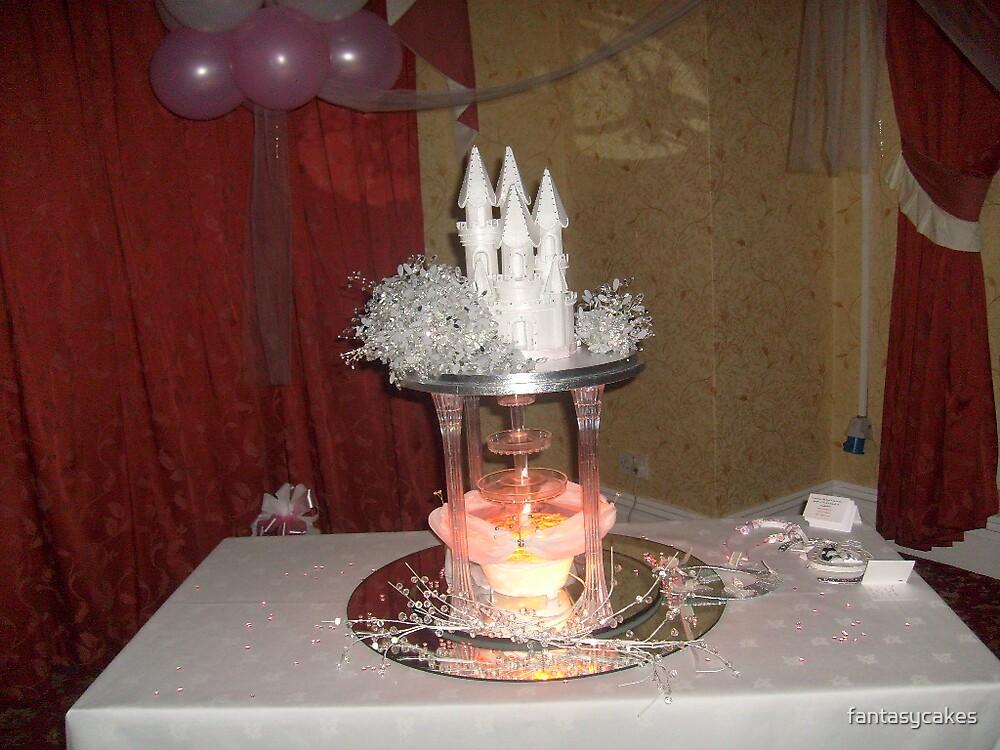 castle fairytale wedding cake by fantasycakes