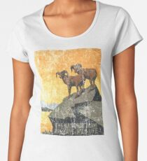 Vintage Travel Poster, Aged and Weathered - National Parks America USA  Women's Premium T-Shirt