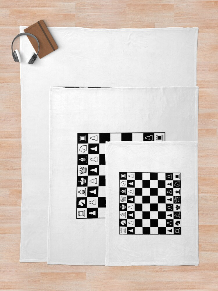 Alternate view of Chess Board Throw Blanket