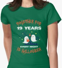 Halloween Shirt For Wife/Husband On 19th Anniversary. Women's Fitted T-Shirt