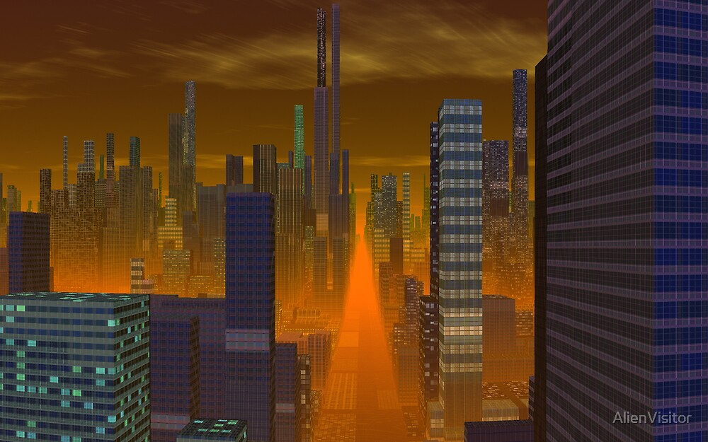 Downtown - Mangus Prime  by AlienVisitor