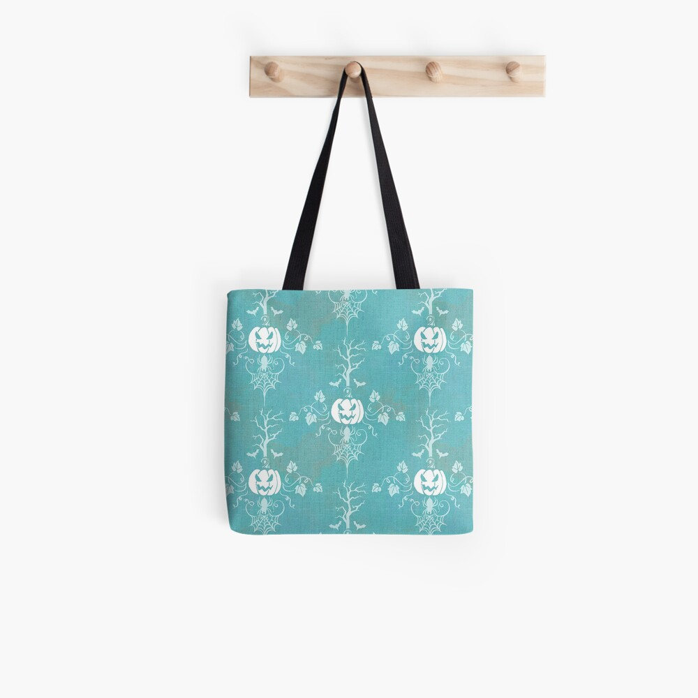 Vintage Halloween in bright turquoise Tote Bag