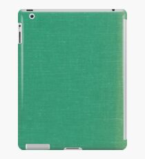 Turquoise Linen Material Texture iPad Case/Skin