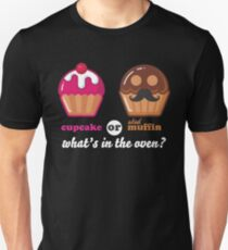 Gender Reveal Shirts Cupcake Or Stud Muffin Gender Reveal Shirt Unisex T-Shirt