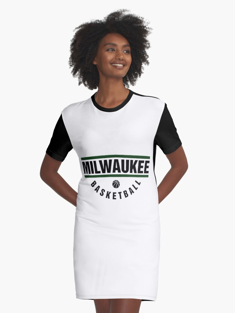 New Milwaukee Basketball Design 2018 Graphic T Shirt Dress By