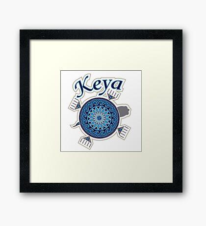 Turtle Keya Framed Print