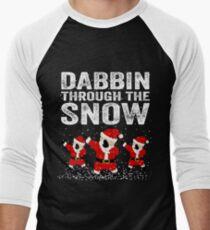 Dabbing through the Snow Men's Baseball ¾ T-Shirt