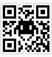 Space Invaders QR Code Sticker