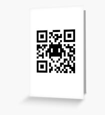 Space Invaders QR Code Greeting Card