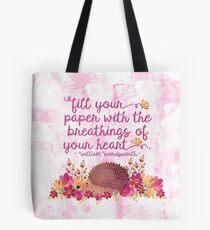 Hedgehog Wordsworth Quote Tote Bag