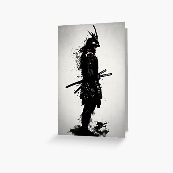 Armored Samurai Greeting Card