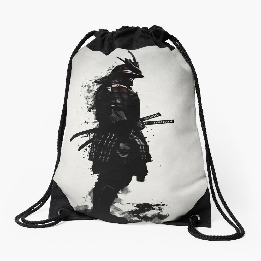 Armored Samurai Drawstring Bag