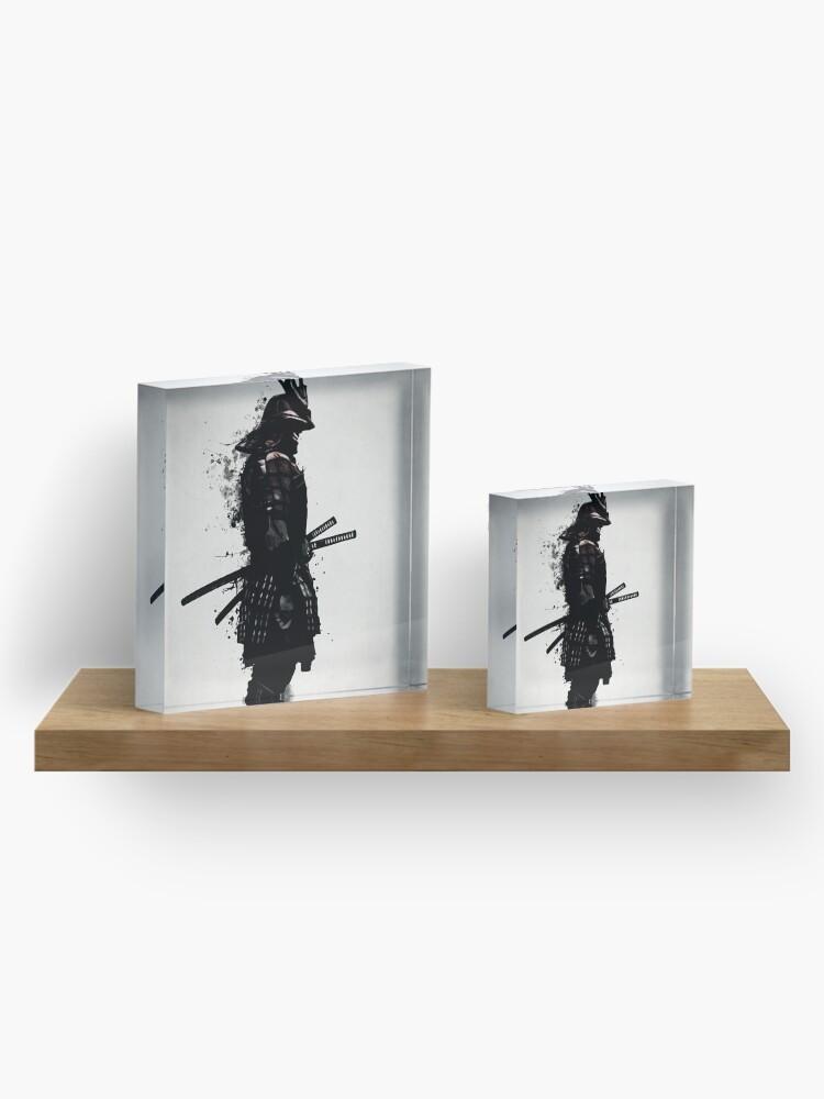 Alternate view of Armored Samurai Acrylic Block